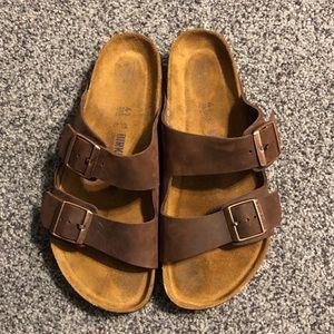 Birkenstock Soft Footbed Mens Brown Size 41 EUC